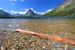 lodowa góry park narodowy sinopah Fotografia Royalty Free