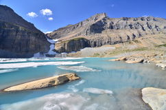 lodowa grinnell jeziorny park narodowy wierzch Obraz Stock