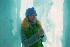 lodowa groty kobieta Obrazy Royalty Free