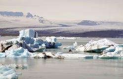 Lodowa i lodu laguna w Iceland Obrazy Royalty Free