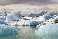 Lodowa i lodu laguna w Iceland Fotografia Stock