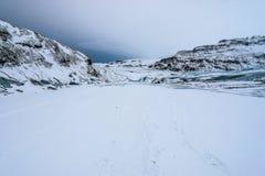 lodowa Iceland solheimajokull Fotografia Royalty Free