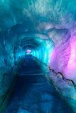 Lodowa jama W Merze De Glacer Chamonix, Francja Obrazy Stock