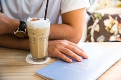 Lodowa kawa z menu Zdjęcia Royalty Free
