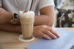 Lodowa kawa z menu Zdjęcie Royalty Free