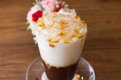 Lodowa kawa z mlekiem Zdjęcia Royalty Free