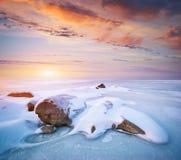 lodowa krajobrazu kamienia zima Obrazy Royalty Free