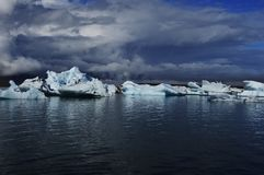 Lodowa laguna pod Vatnajökull lodowem Obraz Stock
