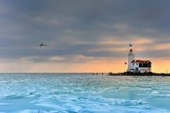 lodowa latarnia morska marken półkę Fotografia Royalty Free