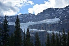 Lodowa lodowiec formacja w Skalistej górze fotografia royalty free