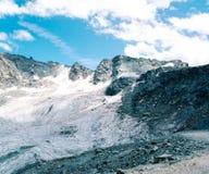 Lodowa lodu krajobraz w Alps fotografia stock