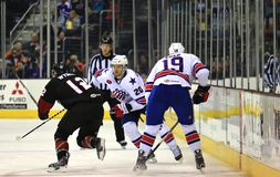 Lodowa mecz hokeja akcja Obraz Royalty Free