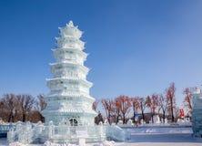 Lodowa pagoda na słonecznym dniu Obraz Stock