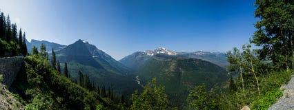 Lodowa parka narodowego panorama Obrazy Royalty Free