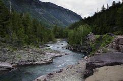 Lodowa parka narodowego rzeka Zdjęcia Stock