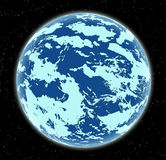 Lodowa planeta w przestrzeni Obrazy Stock