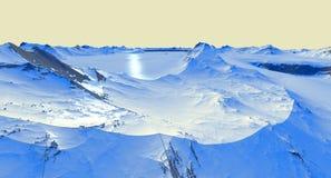 lodowa pokrywa krajobraz Zdjęcia Royalty Free
