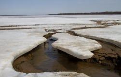 lodowa roztapiająca rzeka Obraz Royalty Free