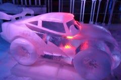 Lodowa rzeźba Disney samochodów kreskówka obraz royalty free
