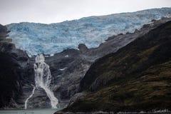 Lodowa stapianie w Patagonia Argentyna obraz stock