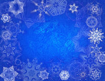 lodowa tła płatek śniegu Fotografia Royalty Free