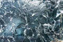 Lodowa tekstura na górze lodowa zdjęcia royalty free