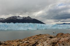 Lodowa widok w Patagonia Argentyna obrazy royalty free