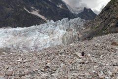 lodowa wycieczkowicza morena zdjęcia stock