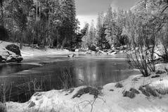 lodowa zima Yosemite Zdjęcia Royalty Free