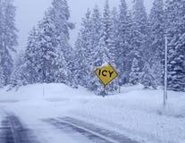 lodowata droga Zdjęcia Stock