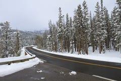Lodowata droga w zima warunkach Obraz Stock