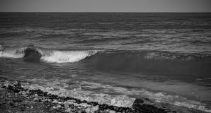 Lodowata Jeziorna Erie zimy linia brzegowa Obraz Royalty Free
