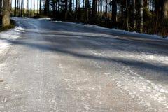 lodowata road Fotografia Stock