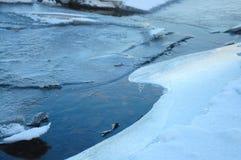 Lodowata rzeka Zdjęcie Stock