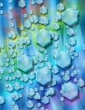 lodowaty abstrakcjonistyczny tło Zdjęcie Royalty Free