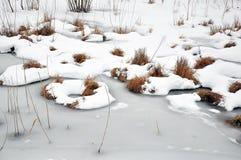 lodowaty jezioro Obraz Royalty Free