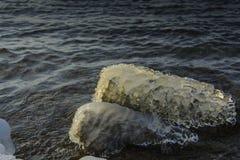 Lodowaty kamień Fotografia Royalty Free