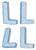 lodowaty l list royalty ilustracja
