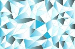 Lodowaty niski poli- poligonalny trójgraniasty lodowaty abstrakcjonistyczny tło wektor Zdjęcia Royalty Free