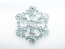 Lodowaty płatek śniegu na białym tle 3d royalty ilustracja