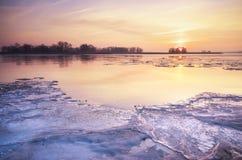 lodowaty poranek Obrazy Royalty Free