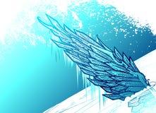 lodowaty skrzydło ilustracja wektor
