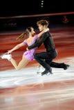 Lodowe łyżwiarki Nicole & Matteo Della Monica Guarise Zdjęcia Royalty Free