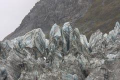 Lodowe formacje na twarzy lodowiec Fotografia Royalty Free