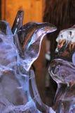 Lodowe rzeźby instalują w Nantes (Francja) obrazy stock