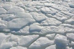 2007 lodowe Stycznia naturalnego ob Siberia konsystencja river zdjęcia royalty free