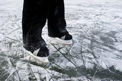lodowe tło łyżwy Zdjęcia Stock