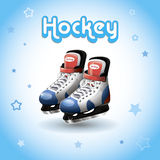 Lodowego hokeja łyżwy, ilustracji