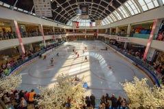 Lodowego hokeja arena w Zachodnim Edmonton centrum handlowym fotografia stock
