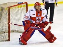 Lodowego hokeja bramkarz Obraz Stock